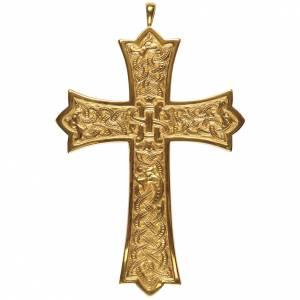 Croix pectorale pour évêque Molina argent 925 doré s1