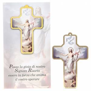 accessoires pour bénédictions: Croix pvc Résurrection 13x8,5 cm