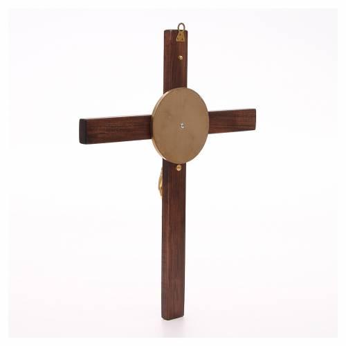 Crucifijo de madera de haya y cuerpo de bronce s3