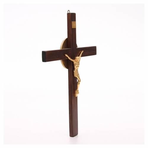 Crucifijo de madera de haya y cuerpo de bronce s4