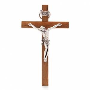 Crucifijo de madera recto 12 x 7 cm s1