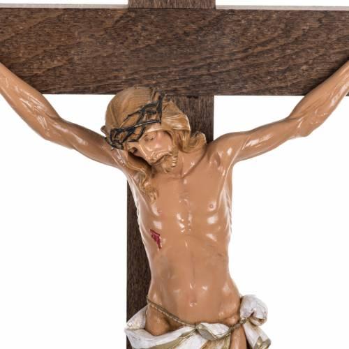 Crucifijo Fontanini cruz madera 54 x 30 cuerpo PVC s2