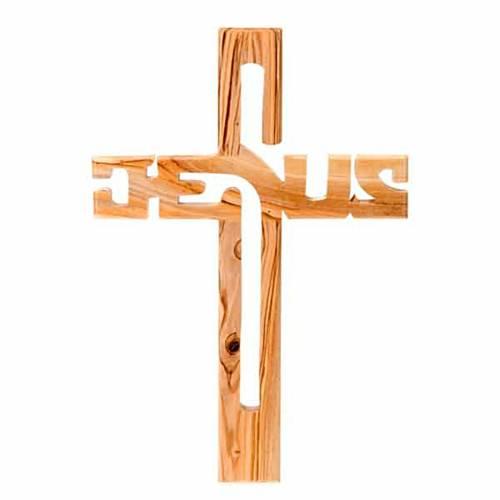 Crucifijo madera de olivo Jesus s1