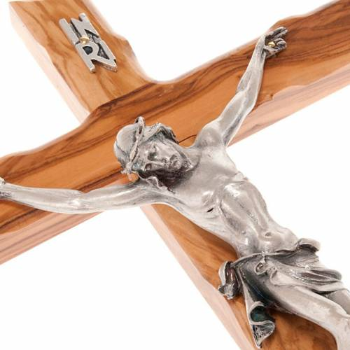 Crucifijo moderno madera de olivo s4