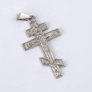 Crucifijo ortodoxo plata 800 relieve s2