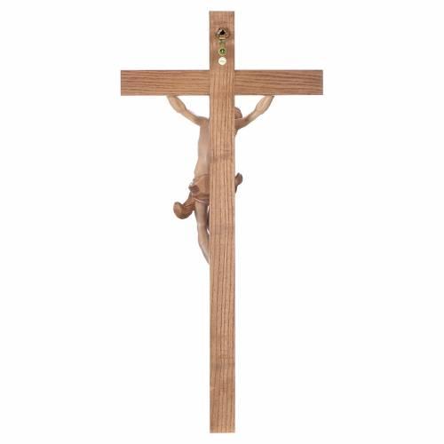 Crucifix croix droite Corpus Valgardena patiné multinuance s4