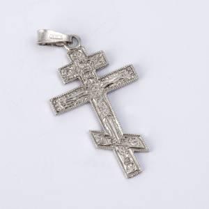 Crucifix orthodoxe en argent 800 s2