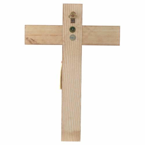 Crucifix, Romanesque style 25cm in Valgardena wood s4