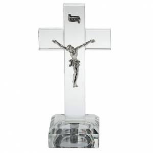 Crucifix en plexiglass et verre: Crucifix verre avec lumière interne
