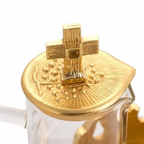 Cruet set in gold-plated molten bronze s3