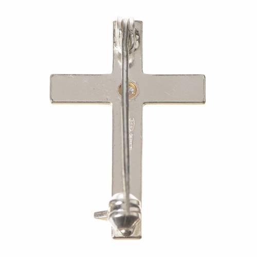 Cruz Clergyman plata de ley zircón s3