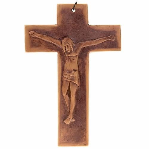 Cruz de muro cerámica cm. 23 3