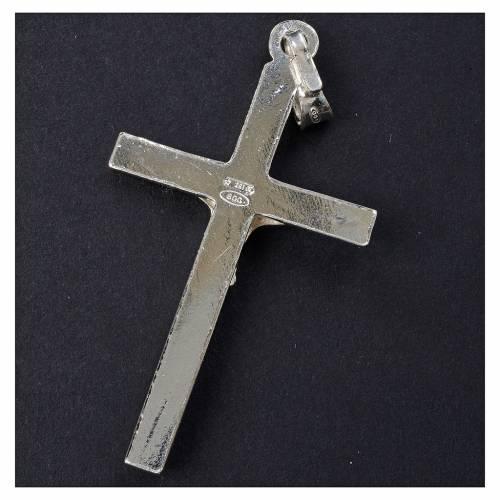 Cruz de plata colgante de 3,5x2,5 cm s3
