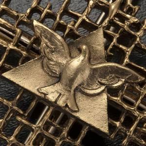 Cruz metal dorado Padre y Espíritu Santo s3