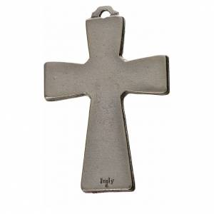 Cruces Colgantes Collares de metal: Cruz trilobulada Espíritu Santo 5x3.5cm zamak y esmalte negro