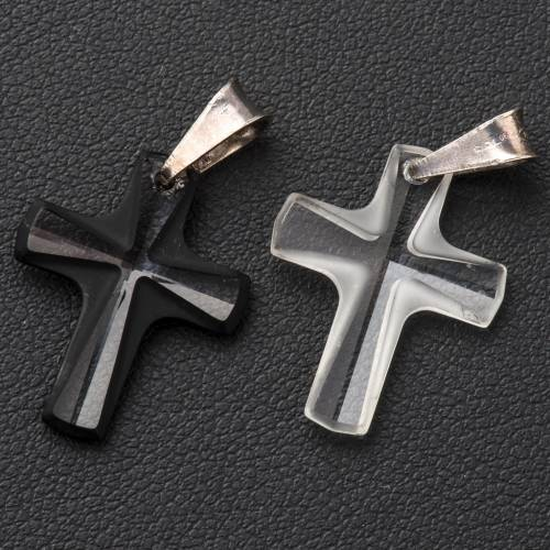 Crystal cross pendant 2x1,5 cm s3