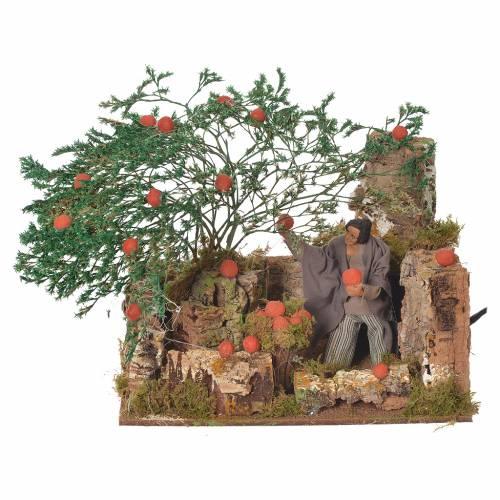 Cueilleur d'oranges 12 cm décor animé crèche s1