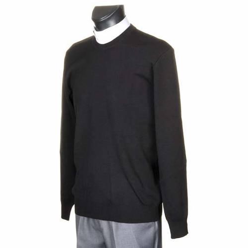Cuello redondo lana negra s2