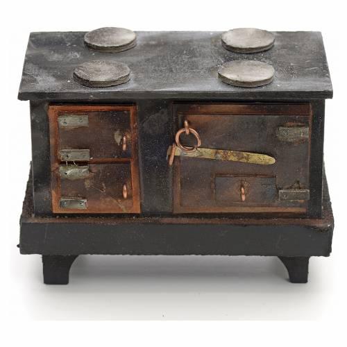 Cuisinière à bois crèche Napolitaine 12 cm s1