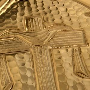 Custode Hostie Magna laiton doré croix Alpha Oméga s3