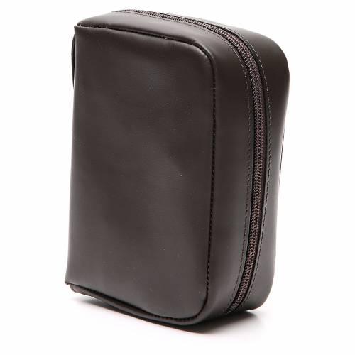 Custodia Bibbia Gerusalemme tascabile nera pelle zip s2