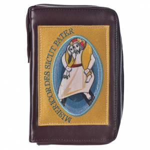 Custodie lit. ore 4 vol.: STOCK Custodia Liturgia ore 4 volumi Giubileo Misericordia marrone