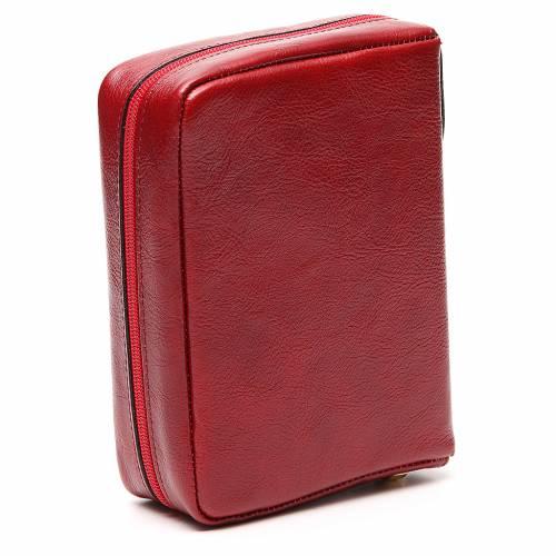Custodia Messale Quotidiano pelle rossa Alfa Omega s3