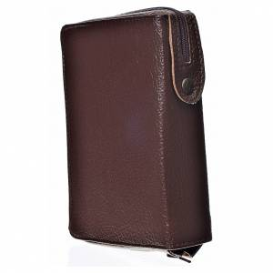 Daily Prayer covers: Daily prayer cover dark bonded leather with image of Our Lady of the Tenderness
