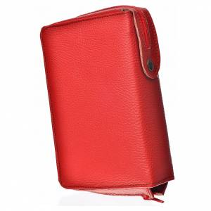 Daily Prayer covers: Daily prayer cover, red bonded leather with image of Pantocrator