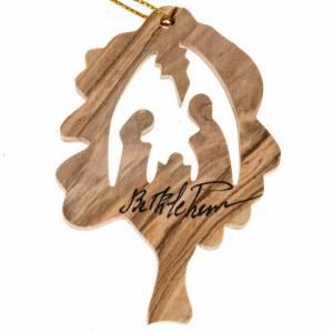 Décoration Noel bois olivier arbre Nativité s1