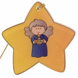 Décorations sapin bois et pvc: Décoration Sapin de Noel étoile ange plexiglas