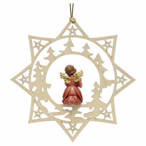 Decorazione angelo stelle alberi con regalo s2