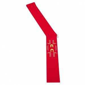 Stoles: Diaconal stole in polyester with Alpha and Omega