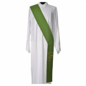 Diaconal stole in polyester with IHS and cross symbols s3