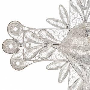 Dije de Cruz filigrana con decoraciones de plata 800, 32,9 gr s3