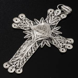 Dije de Cruz filigrana con decoraciones de plata 800, 32,9 gr s4