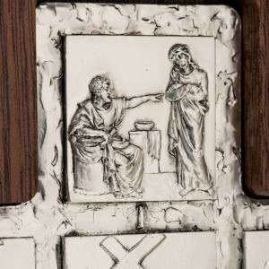 Standing crucifixes: Diptych Way of the Cross silver, 14 stations