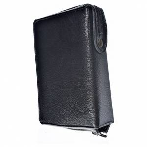 Divine office cover black bonded leather Our Lady of Kiko s2