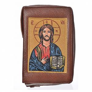 Divine Office covers: Divine office cover bonded leather Christ Pantocrator with open book