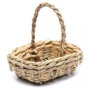 Home accessories miniatures: DIY nativity scene wicker basket 4,5x6 cm