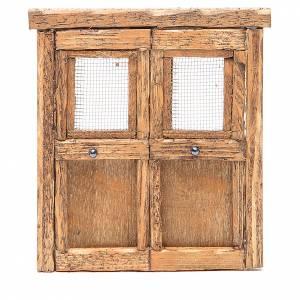 Balustrade, doors, railings: Door for nativity in wood 13x11cm