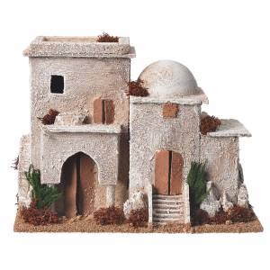 Double minaret for nativities with setting measuring 13x20x10cm s1