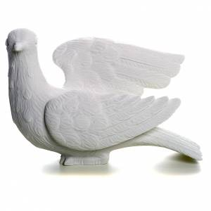 Dove facing left, reconstituted marble statue, 15 cm s1