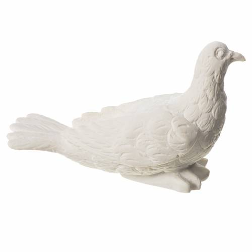 Dove with closed wings statue in reconstituted marble s2