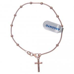 Silver bracelets: Dozen rosary bracelet in 925 sterling silver rosè