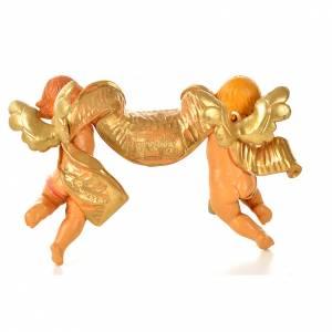 Duo d'anges avec parchemin Fontanini 9x15 cm s2