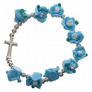 Elastic bracelet with roses s5