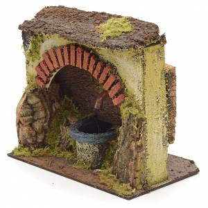 Electric nativity fountain with big arch 18x16x11cm s2