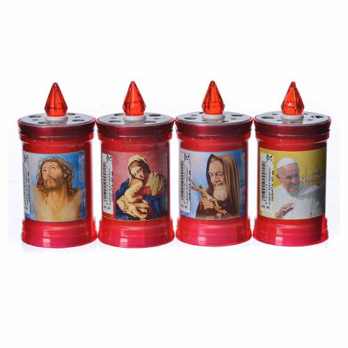 Electric votive candle in PVC, red, lasting 40 days s1