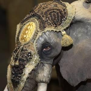 Elefante con Re Magio presepe 30 cm Angela Tripi s3